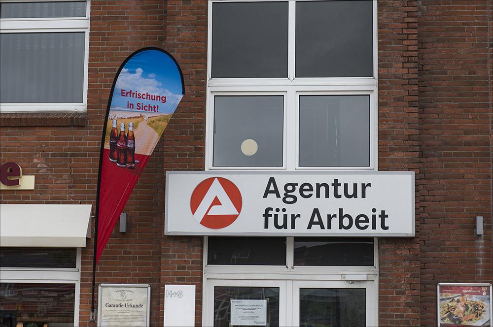 Die Agentur für Arbeit im Zentrum von Westerland auf der Nordseeinsel Sylt (Landkreis Nordfriesland).