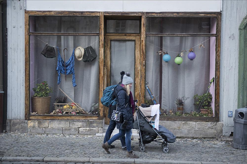 Ein leerstehendes Geschäft in der Altstadt von Blankenburg (Harz). So wie dieses Geschäft stehen viele Geschäfte in der Altstadt leer.